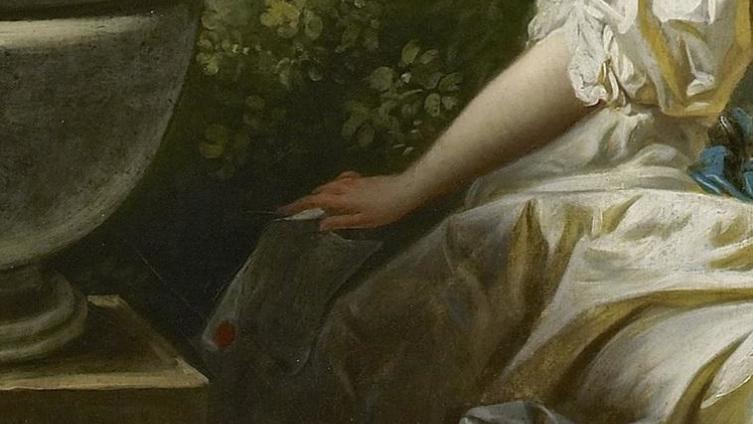 Жан Фрагонар «Достижения любви. Свидание», фрагмент «Письмо»