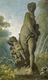 Жан Фрагонар «Достижения любви. Свидание», фрагмент «Венера и Амур»