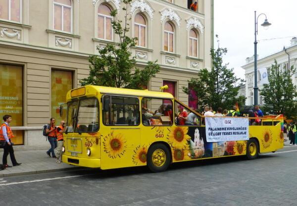Первый автобус с членами ЛГБТ-сообщества
