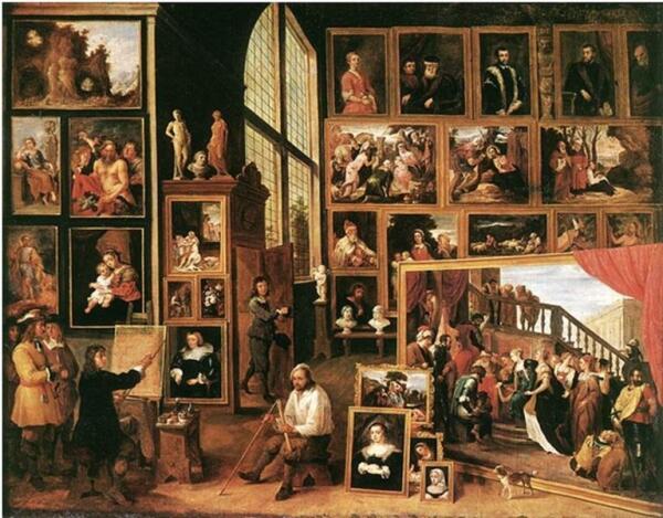 Давид Тенирс младший «Эрцгерцог Леопольд Вильям в его галерее в Брюсселе»,1639