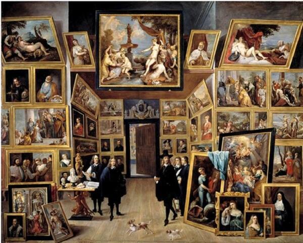 Давид Тенирс младший «Эрцгерцог Леопольд Вильям в его галерее в Брюсселе», 1647