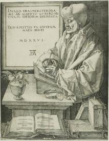 Альбрех Дюрер, портрет Эразма Роттердамского, 1526, Лувр, Париж, Франция