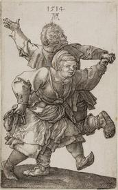 Альбрехт Дюрере, Peasant Couple Dancing, 1514, Институт искусств Чикаго, США
