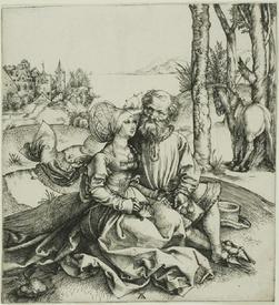 Альбрехт Дюрер, «Совершенно неподходящая пара», 1496,  Институт искусств Чикаго, США