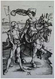 Альбрехт Дюрере,  Дама на лошади и пехотинец,  Институт искусств Чикаго, США