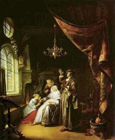 Герард Доу, Больная водянкой, 1663,68х86, Лувр, Париж, Франция