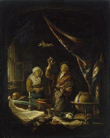 Герард Доу, Больная у врача, 1650, Эрмитаж, Петербург, Россия