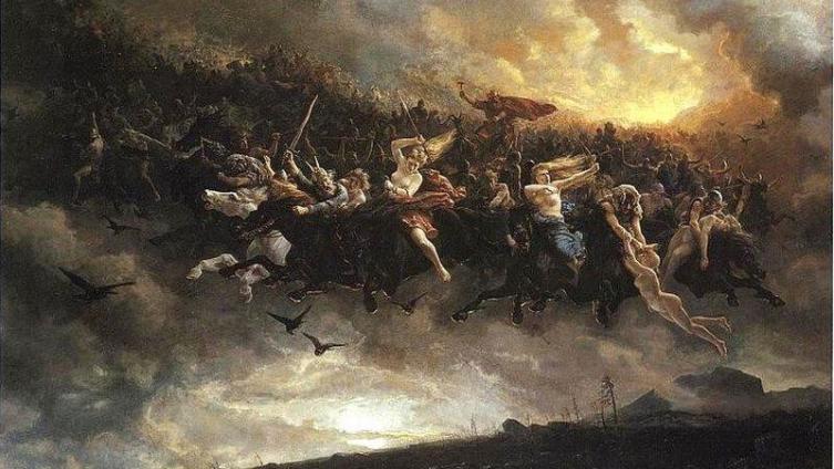 Петер Николай Арбо. Дикая охота Одина. 1872