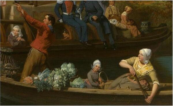 Валентин Бинг, Станция на канале в Утрехте, Фрагмент, «Крестьяне с товаром»