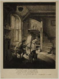 Адриан ван Остаде: Мастерская художника, 1647,  21x17 см, Art Institute Chicago, Чикаго, США