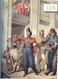 Георг Эмануэль Опиц, Русские казаки на улице Rue de bons enfans («улица хороших деток»)