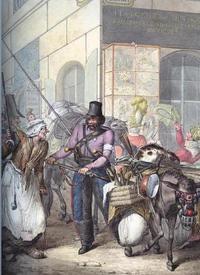 Георг Эмануэль Опиц, Казак спорит с парижанкой на углу улицы de Grammont