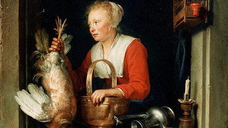 Герард Доу, Нидерландская домохозяйка, 1650 г.