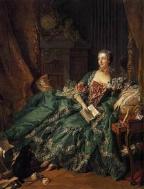Франсуа Буше, портрет мадам Помпадур, 1756,  212х164 см, Старая пинакотека, Мюнхен, Германия