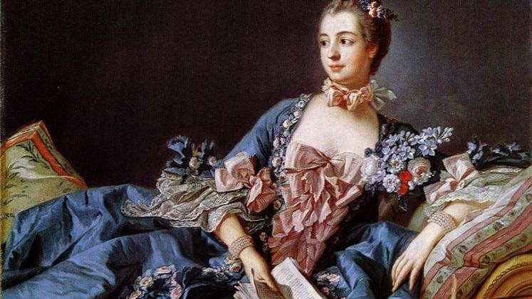 Франсуа Буше, Мадам де Помпадур, 1756, 40х46 см, Шотландская национальная галерея, Англия