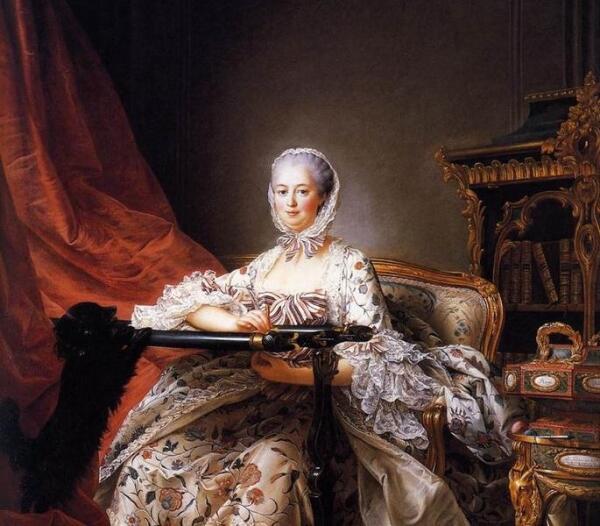 Франсуа Хуберт Дрюис, Мадам Помпадур вышивает, 1763,  217х157 см, National Gallery, Лондон, Англия