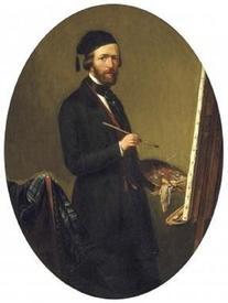Теодор Бернард де Хёвель, Автопортрет, 1852