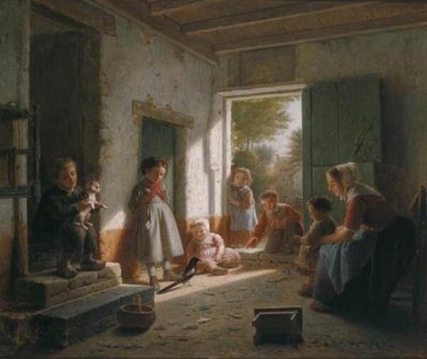 Теодор Бернард де Хевель, Любопытная сорока, 1871