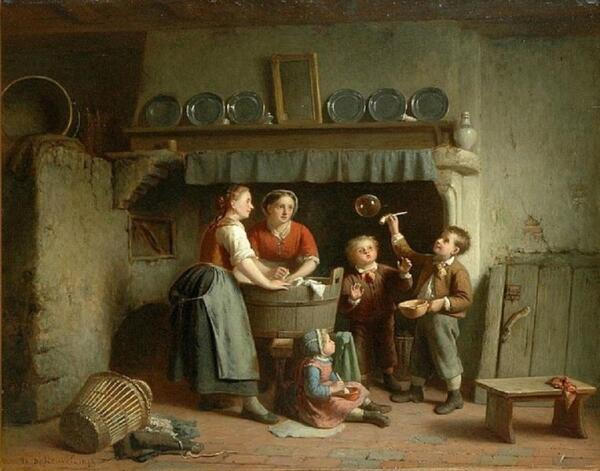 Теодор Бернард де Хевель, Мыльные пузыри, 1873