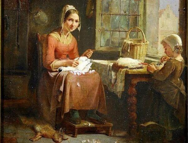 Теодор Бернард де Хевель, Мать с  ребенком