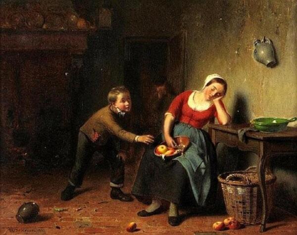 Теодор Бернард де Хевель, Украденное яблоко, 1867