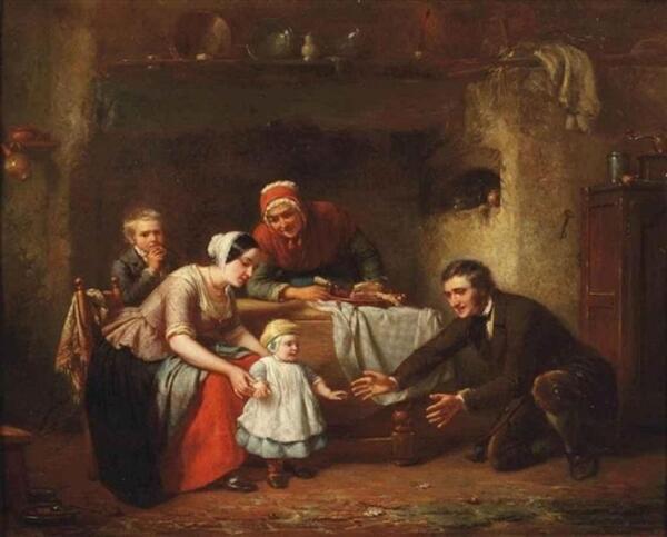 Теодор Бернард де Хевель, Первые шаги, 1854