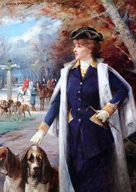 Луиза Аббема, Сара Бернар на псовой охоте, 1897