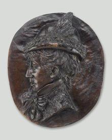 Сара Бернар, Автопортрет, бронза, 1876 год
