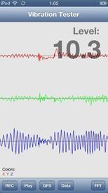 Измерение уровня вибрации, iOS