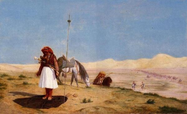 Жан-Леон Жером, Молитва в пустыне, 1864