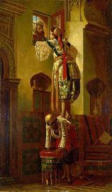 Жан-Леон Жером, Свидание, вид изнутри дома