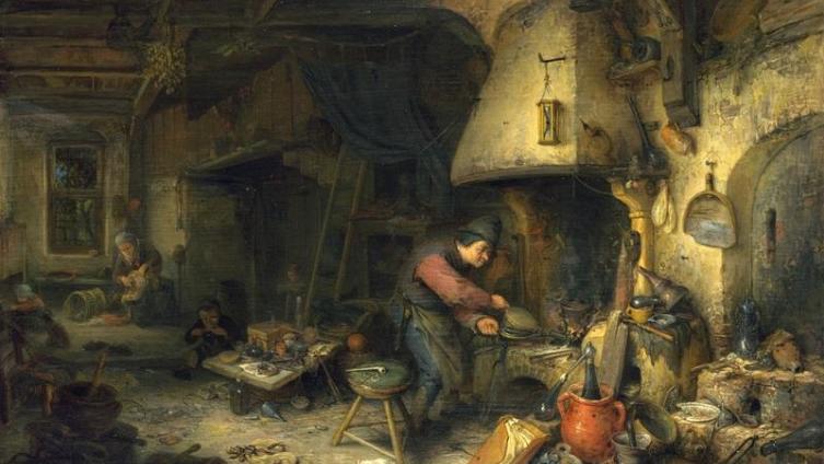 Адриан ван Остаде, «Алхимик», 1661