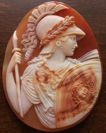 Афина, слоистый сардоникс, 1850