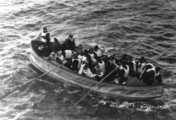Спасательная шлюпка «Титаника», снятая одним из пассажиров