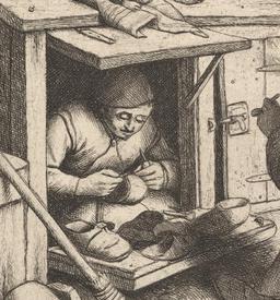 Адриан ван Остаде, Башмачник, Фрагмент «Инструмент»