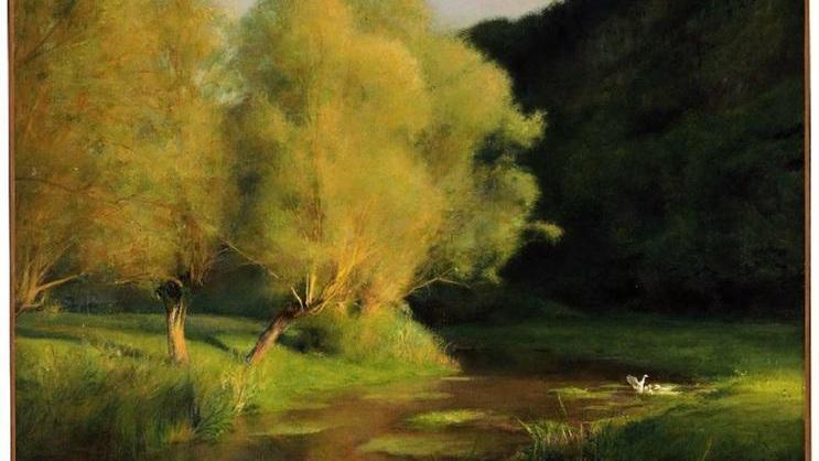 Паскаль Даньян-Бувре,  Ивы у ручья, 1908, 65х81 см,                                            Музей изящных искусств, Бостон, США
