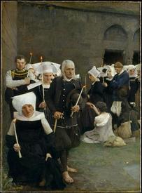 Паскаль Даньян-Бувре, Прощение в Бретани,1886, 115 x 85 см,         Метрополитен музей, Нью Йорк, США