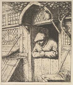 Адриан ван Остаде, Крестьянин в окне