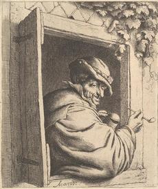 Адриан ван Остаде, Курильщик в окне