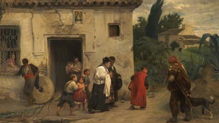 Хосе Хименес Аранда, El santo oleo (Святым елеем), 1871