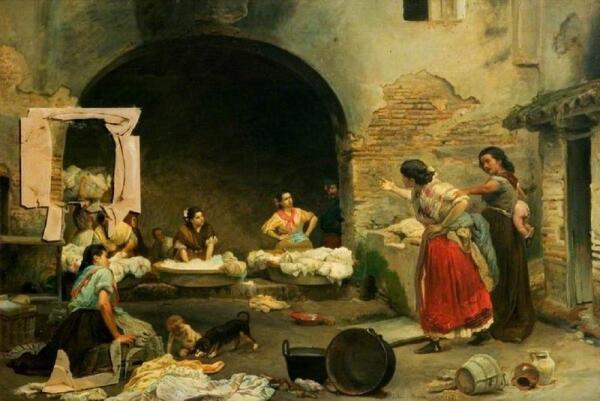 Хосе Хименес Аранда, Ругающиеся прачки, 1871