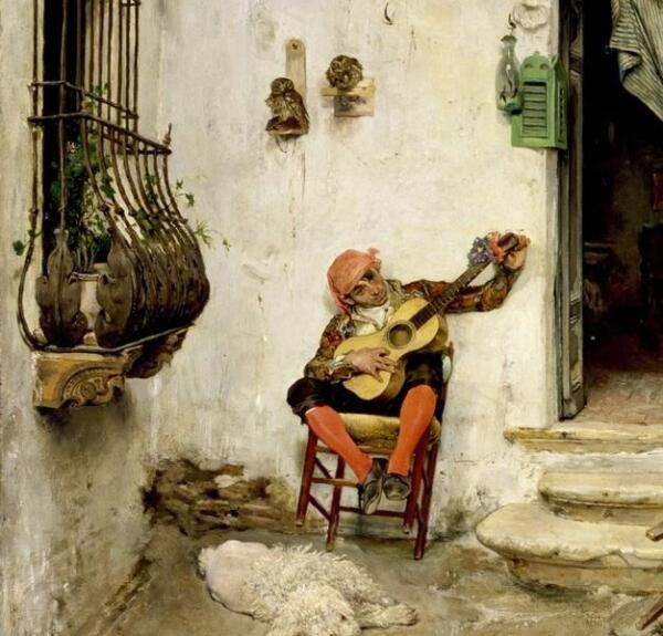 Хосе Хименес Аранда, Римский цирюльник, фрагмент Гитарист
