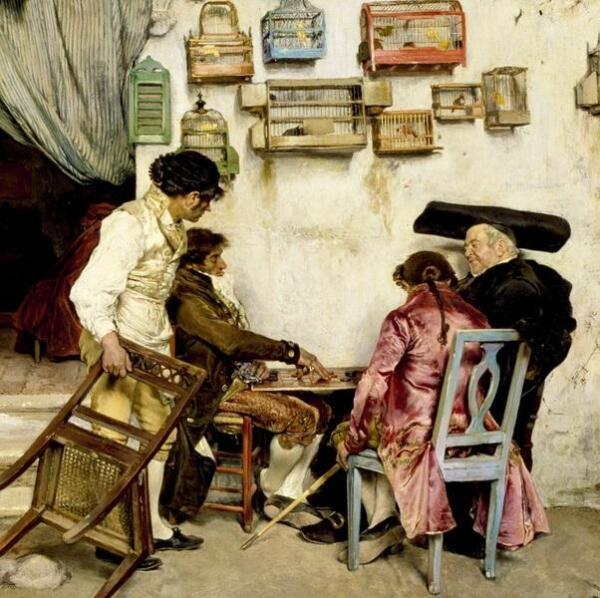 Хосе Хименес Аранда, Римский цирюльник, фрагмент «Игроки»