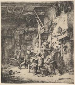 Адриан ван Остаде, Семья, 17х15 см, 1647, Метрополитен музей, Нью-Йорк, США