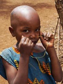 Ребенок племени масаи