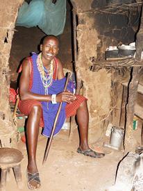 Жилище племени масаи, внутренний вид
