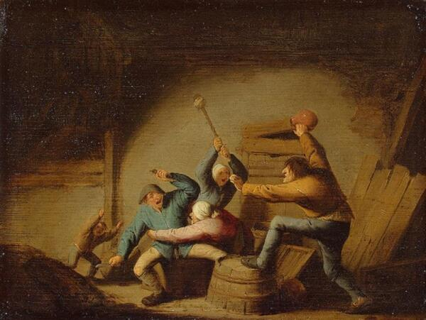 Адриан ван Остаде, Драка, 1637