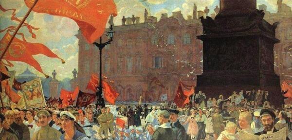 Праздник на площади Урицкого в честь открытия II Конгресса Коминтерна 19 июля 1920 года