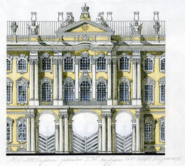 Окраска фасадов Зимнего дворца на рубеже ХVIII-ХIX веков