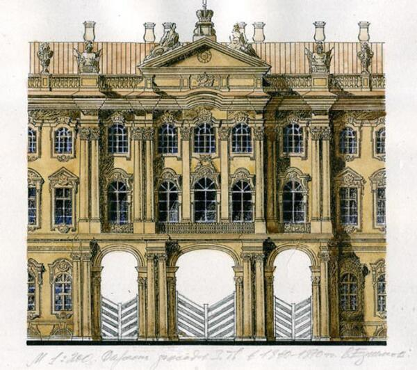 Окраска фасадов Зимнего дворца в 1860–70-е гг.